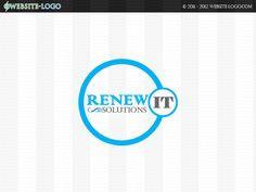 Website Logo design for renew it solutions Website Logo, Unique Logo, Branding Your Business, Brand You, Logo Design, Logos, Logo, A Logo
