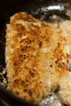 Macadamia Crusted Fish: 1lb tilapia, 2 T Oil, 1C Macadamia Nuts Chopped, ½C flour, 2 Eggs, ½C Panko, 1 t Lemon Pepper. In separate bowls place whisked eggs,  flour, & panko, macadamia nuts, and lemon pepper. Dip fish in flour, then egg, then macadamia mix. Heat oil in large frying pan on high heat. When is hot, add fish. Cook it up for about 3 minutes on each side, until cooked through and serve.