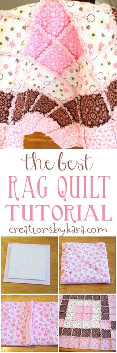 Sewing Quilts This is the best tutorial you will find for making a baby rag quilt. Even a beginner can make a beautiful rag quilt with these step by step instructions. Quilting For Beginners, Quilting Tutorials, Quilting Projects, Quilting Designs, Sewing Tutorials, Beginner Quilting, Quilting Ideas, Sewing Ideas, Easy Sewing Projects