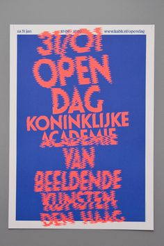 Made by DRAWSWORDS AMSTERDAM This graphic identity for the 2009 Open Day of The…