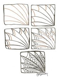 Zentangle Pattern....looks like a dragon wing!