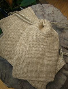 12 for $9 burlap cloth bags