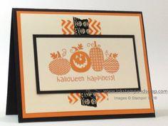 121045 8-1/2″ x 11″ Cardstock: Basic Black 111349 8-1/2″ x 11″ Cardstock: Tangerine Tango 101650 8-1/2″ x 11″ Cardstock: Very Vanilla 131859 Halloween Happiness Stamp (W) 132156 Washi Tape: Witches' Brew (3)