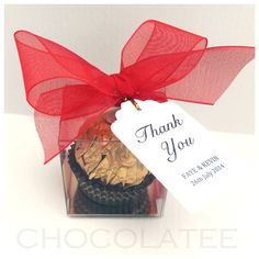 10 Ferrero Rocher Cube Wedding Favours - May Be Personalised! (WF036) on Etsy, £9.99