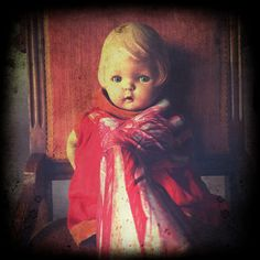 Subject: 1930s Composition doll being held by a skinless arm. Will there be pain? Short Film: Skin