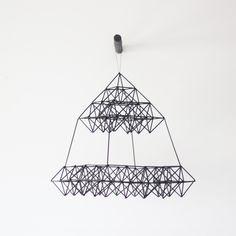 himmeli, hanging mobile geometric sculpture.via AM, etsy shop