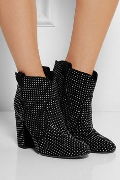 Laurence Dacade|Pete studded suede ankle boots|NET-A-PORTER.COM