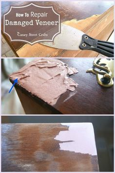 Easy to follow ~ How-To Repair Damaged Veneer
