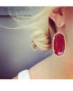 Danielle Earrings in Dark Red - Kendra Scott Jewelry.