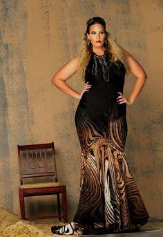 Black And white Plus Size Dresses 23274da8b2d3