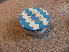 Monogrammed sorority pin box
