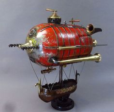 Steampunk Viking Airship by edkidera on Etsy