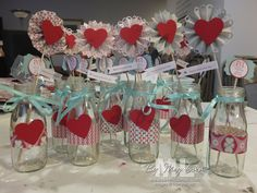 Simple Valentine Table Decor | for wedding table decor? Baby Shower centerpieces? These are Valentine ...