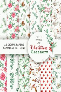 #christmas #ornament #background Free Christmas Backgrounds, Christmas Background Images, Christmas Drawing, Watercolor Christmas, Christmas Backdrops For Photography, Christmas Greenery, Winter Flowers, Illustrator Tutorials, Digital Pattern