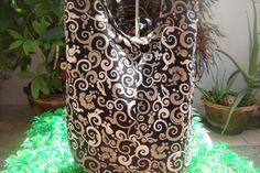 black swirl sling bag