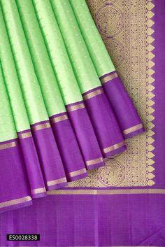Pista Green Kanchipuram Silk Saree with Pure Zari