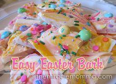 Easy Easter Bark Recipe from TheMiracleMomma.Com #recipe #dessert #easter