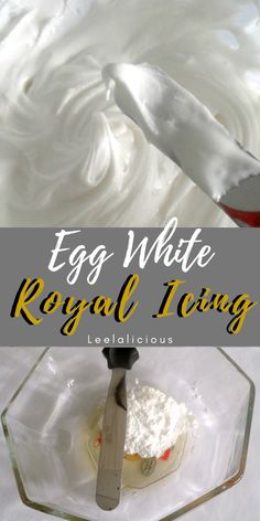 No mixer – No Problem! Learn how you can make quick and easy Egg White Royal Icing by hand. Perfect when you need just a little icing to frost a small batch of cookies. white EASY ROYAL ICING BY HAND Royal Icing Recipe With Eggs, Cake Icing Recipe Easy, White Frosting Recipes, Egg White Recipes, Recipes With Egg Whites, Royal Icing Recipe Without Meringue Powder, Powdered Sugar Icing, Sugar Cookie Royal Icing, Easy Sugar Cookies