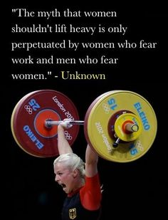 and who cares what lazy women or easily intimidated men think!!!....lift some weights
