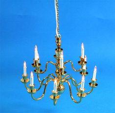 Lámpara de techo de 12 velas en dos alturas. #casasdemuñecas #miniaturas #miniatures #dollhouses #dollhouse #miniature https://www.tiendadecasitas.com/producto/7358/sl3997-lampara-de-techo-12-velas