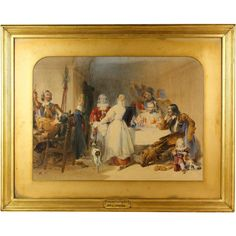 Fantastic Original Watercolor Painting by Joseph J. Jenkins - Genre from revival-house-antiques on Ruby Lane King Charles, Ruby Lane, Paint Colors, Joseph, Watercolor Paintings, Arms, Scene, The Originals, Antiques