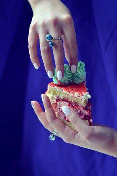 Vanilla Cake with homemade strawberry jam