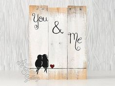 5th Anniversary Gift for Couples Gallery Wall Rustic Wood Sign