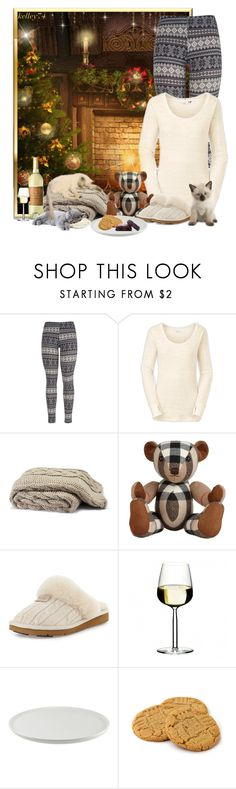 """Cozy Christmas Eve"" by kelley74 ❤ liked on Polyvore featuring maurices, The North Face, Burberry, UGG Australia, iittala and 10 Strawberry Street"
