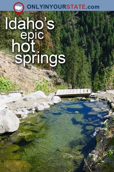 Travel Idaho Attractions USA Things To Do Bucket List Places To Visit Day Trips Vacations Natural Wonders Beautiful Places Road Trips Nature Hot Springs Natural Pools Outdoor Adventure Idaho Hot Springs Explore Waterf Places To Travel, Places To Visit, Travel Destinations, Idaho Hot Springs, Camping Spots, Vacation Spots, Vacation Places, Outdoor Travel, Natural Pools