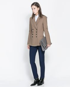 ZARA - WOMAN - SHORT DOUBLE BREASTED OVERCOAT