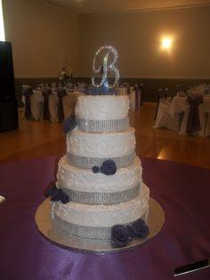 4 Tier bling wedding cake--Tina Johnson (Save Room For Cake!)
