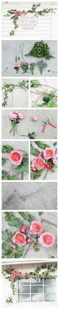 Step By Step : DIY Garden Rose Garland Tutorial