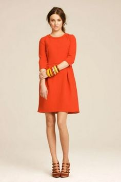 So 60s this orange dress - Abito manica a tre quarti arancione, fa molto anni 60