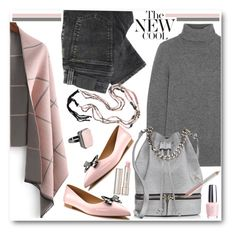 """""""Pink & Grey: The New Cool"""" by brendariley-1 ❤ liked on Polyvore featuring J.Crew, Nudie Jeans Co., MANU Atelier, Shoes of Prey, Ringly, By Terry, Jane Iredale, OPI, women's clothing and women"""