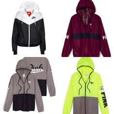 Nike and vs pink windbreakers