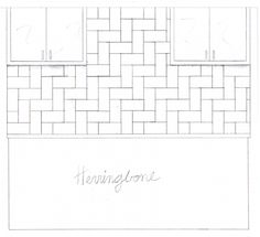 "herringbone tile design from ""10 creative ways to use subway tile"""
