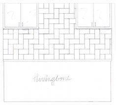 "herringbone tile design from ""10 creative ways to use subway tile"""