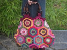 nice hexi crochet bag