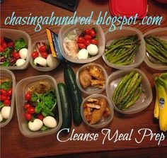 Chasing a Hundred: {AdvoCare} 10 Day Cleanse meal prep
