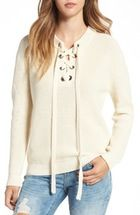 Free shipping and returns on ASTR Lace-Up Sweater at Nordstrom.com. Perfect for all-season layering, this loosely knit and perfectly relaxed sweater is accented with crisscrossing ties and a cool split hem.