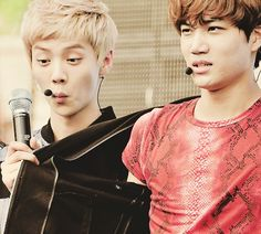 XD rlab! Luhan is like, whatcha hyding *vixx pun* in that jacket *looks* oooooh! Its your sexiness. #Kaihan