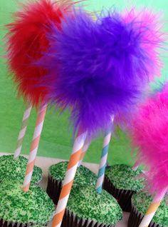 Lorax Truffula Tree Cupcakes -- Easy DIY | DIY