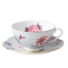 Step into a delightful garden party with Wedgwood's whimsical tea cup and saucer adds a flourish of color to your table with sophisticated and lively style. | Imported | 6-oz. capacity | Bone china |