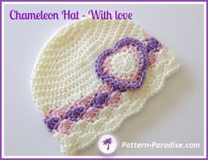 Also instructions to change it up. Looks very different. Made this with Red Heart Classic size 10. Very pretty- and tiny.