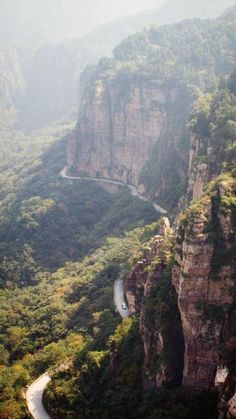 """The Guoliang Tunnel Road is one of the steepest roads in the world! Guoliang Tunnel Road translates literally in English to """"Road that tolerates no mistakes."""""""
