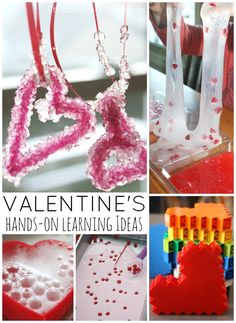 Valentines Day Learning Activities for kids includes a variety of fun and simple ideas to make the day extra special. Hands on learning is prefect for kids.