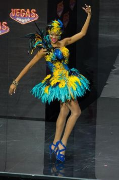 Lexi Wilson, Miss Bahamas 2013, models in the National Costume contest at Vegas Mall on November 3, 2013. (Credit: Darren Decker/Miss Universe2013