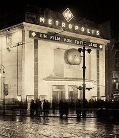 1927 Berlin - Die Premiere von Fritz Lang´s Mtropolis, Nollendorfplatz.