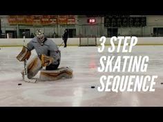 3 Step Edgework Hockey Goalie Skating Drill (progression) - YouTube Hockey Drills, Hockey Goalie, Hockey Training, Hockey Coach, Sports Mom, Instagram And Snapchat, Goalkeeper, Skating