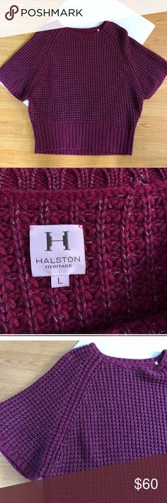 Halston Heritage Purple Chunky Knit Sweater Excellent condition with little to no wear and tons of life left! NO TRADES PLEASE Halston Heritage Sweaters